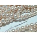 25 perles de verre nacré rose pale 8mm ref 2G5528