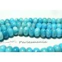 10 perles agate larimar bleue rondelles 5 par 8 mm