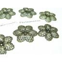 2 pieces breloque pendentif connecteur fleur dentelle Bronze