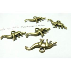 10 breloques pendentif dinosaure bronze No 2D1452