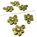 Apprêt bijoux 50 pendentifs petites fleurs ref 2D1553 Bronze