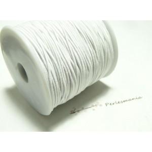 3 mètres élastique fil tressé 0,8mm blanc