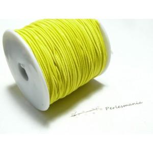 3 mètres élastique fil tressé 0,8mm jaune