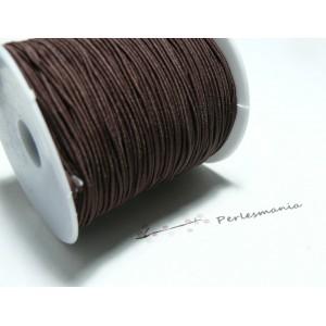 3 mètres élastique fil tressé 0,8mm marron