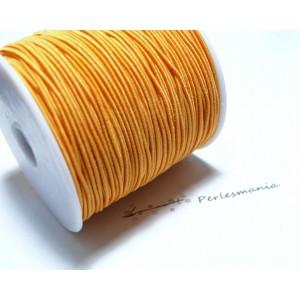 10 mètres élastique fil tressé 0,8mm orange