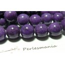 Perles pour bijoux 5 perles  10mm jade violet