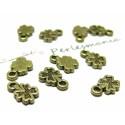 Apprêt bijoux 100 pendentifs mini trèfles ref 2DA8121