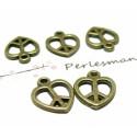 Apprêt bijoux 10 pendentifs coeurs ref 2D2416 Bronze