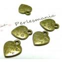 Apprêt bijoux 100 pendentifs  Made with love Bronze