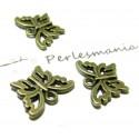 50 pièces breloque magnifique petit papillons ref 2D1520 BR