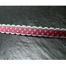 1 mètre ruban ajouré avec pois couleur rose
