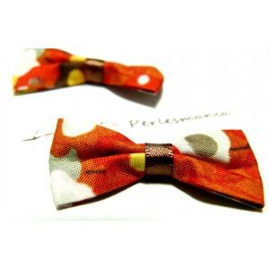 Apprêt et mercerie Lot de 10 noeuds orange rouge PQZ72