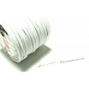 10 mètres élastique fil tressé 1,5mm blanc ref1