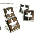 Lot de 10 clous à griffes  étoile et carré PP 12mm pour customisation