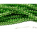 TOP prix 100 perles ( le fil ) de verre nacré 4mm