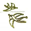 Apprêt bijoux 2 connecteurs oiseau ref P1913 Bronze