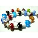Perles bijoux 10 perles de verre fait main champignon rmulticolore