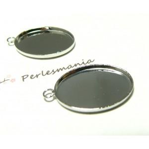 Apprêt 10 pendentifs oval 18 par 25mm qualité PP