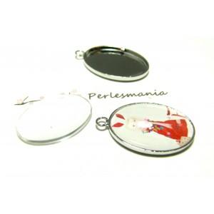 20 pièces: 10 pendentifs oval 18 par 25mm qualité PP et 10 cab