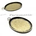 Apprêt 1  pendentif oval  18 par 25mm qualité  BR