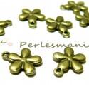 Apprêt 10 pendentifs ref 84 jolie fleur Bronze