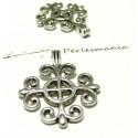 Apprêt bijoux 2 pendentifs croix ref P15160 VA