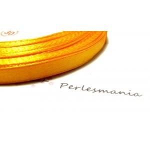 1 rouleau de 23 mètres ref 226 ruban satin orange safran