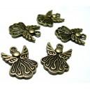 Apprêt bijoux 10 breloques bel ange  ref 2Y2724 BR