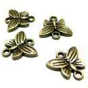 Apprêt bijoux 50 connecteurs papillon ref 2D1557 Bronze