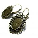 Apprêt bijoux 1 paire de boucle d'oreille Vintage bronze