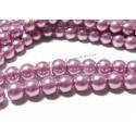 25 perles de verre nacre lilas 8mm ref 2G3577