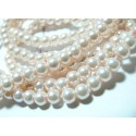 30 perles de verre nacre rose poudré 6mm ref 2G3675