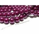 30 perles de verre nacre violet pourpre ref 4DB35  4mm