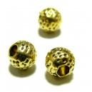 50 perles intercalaires P611 doré style martelées