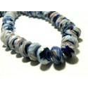 Apprêt 2 magnifiques rondelles verre facetté2J2601 parme bleu nuit