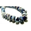 Apprêt 10 magnifiques rondelles verre  facetté2J2601 parme bleu nuit