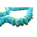 Apprêt 10 magnifiques rondelles verre  facetté 2J2205 turquoise