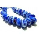 Apprêt 10 magnifiques rondelles verre  facetté 2J2805 Bleu nuit