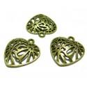 Apprêt bijoux 4 pendentif breloque bronze ref P2423