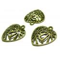 Apprêt bijoux 10 pendentifs breloque bronze ref P2423