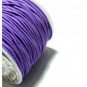 Apprêt mercerie 3 mètres élastique fil tressé 1,5mm violet