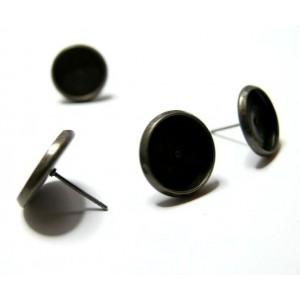 Offre spéciale 50 Supports de BO bronze 12mm puce