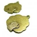 Apprêt  4 pendentifs arbre ref 2D4735 Bronze