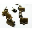 Apprêt 100 griffe pince attache ruban 10mm bronze