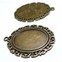Apprêt 1magnifique pendentif camée bronze ref P553