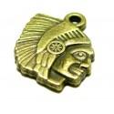 Apprêt bijoux 4 pendentifs ref 2D4211 indien Bronze