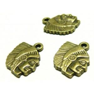 Apprêt bijoux 10 pendentifs ref 2D4211 indien Bronze