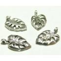 10 pieces pendentifs feuille viel argent ref 2DY3101