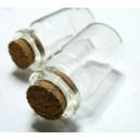 Apprêt bijoux 2  flacons fiole en verre 23 par 13 mm Q014
