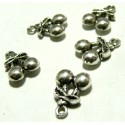 Apprêt bijoux 10 pendentifs cerise 2B6106 VA
